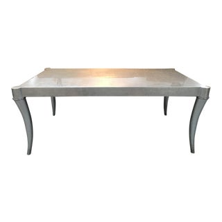 Jewel Silver Leaf Cocktail Table by Chaddock For Sale