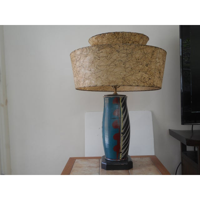 Mid-Century Pottery Lamp - Image 2 of 6
