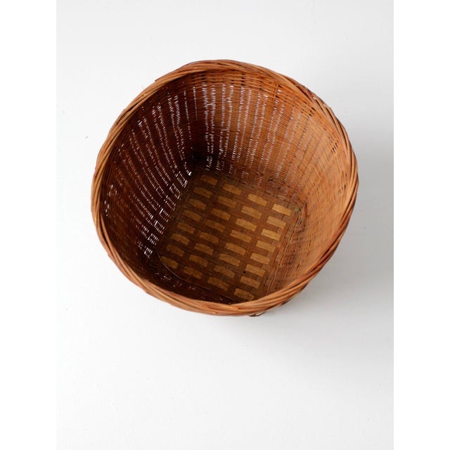 Vintage Woven Reed Basket - Image 5 of 10