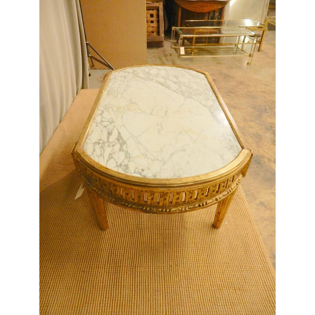 Wood 18th C. Louis XVI Marble Top Coffee Table For Sale - Image 7 of 8