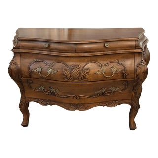 Antique French Bow-Front Chest