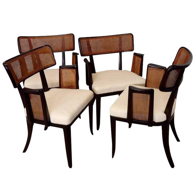 Four Edward Wormley for Dunbar Dining Chairs For Sale