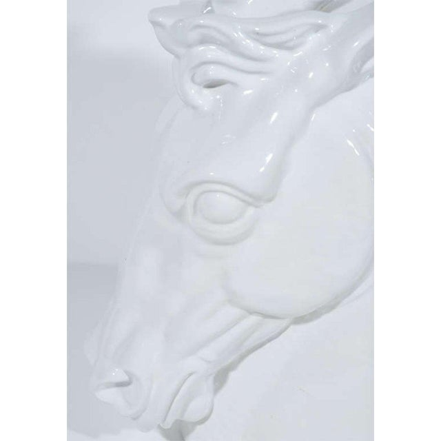 1960's Hollywood Regency Ceramic Horse Sculptural Vase, Italy For Sale - Image 4 of 11