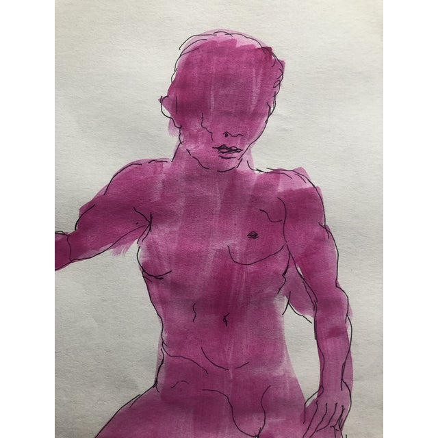 Figurative Mid-Century Female Nude Watercolor, 1950s For Sale - Image 3 of 5