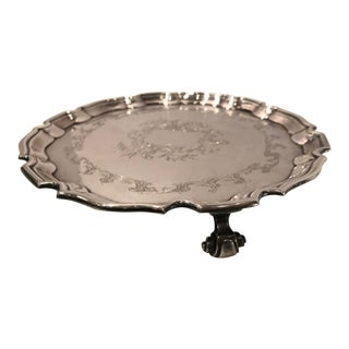 Antique Old Sheffield Silver Plate Tray For Sale