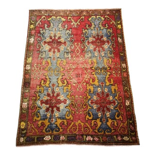 1971 Turkish Anatolian Hand-Knotted Area Rug For Sale