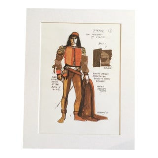 "Vintage Stratford Festival Design Folio, Shakespeare's ""The Merchant of Venice"" Costume Print"