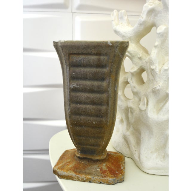 Cast Iron 20s Art Deco Vase / Sculpture - Image 5 of 6