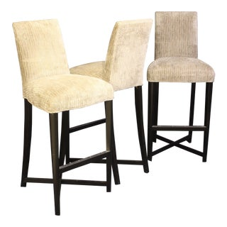 Modern Donghia Studio X Bar Stools- Set of 3 For Sale