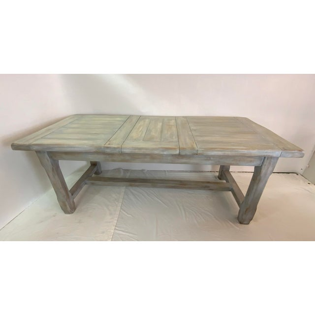 Christian Robert Farm Table With Two Leaves For Sale - Image 4 of 13