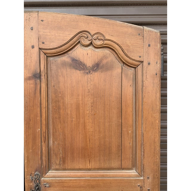 18th C Antique French Walnut Armoire Doors - a Pair For Sale In Denver - Image 6 of 13