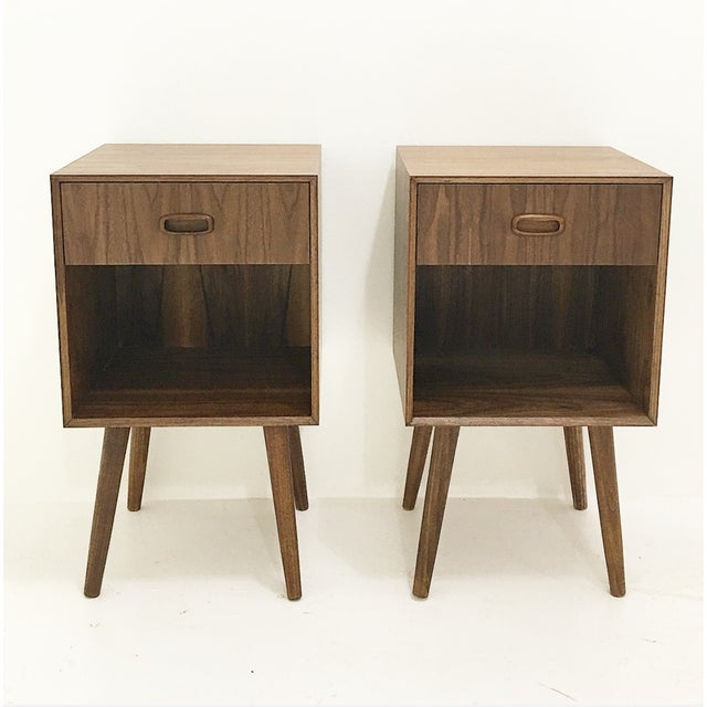 Mid-Century Style Nightstands - A Pair - Image 2 of 3