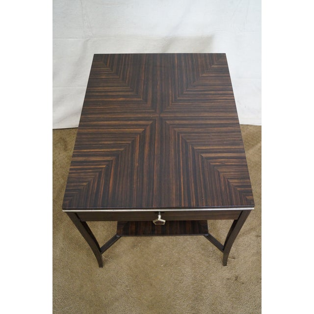 Jonathan Charles 1 Drawer Directoire End Table - Image 8 of 10