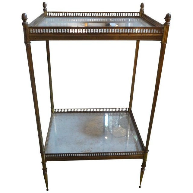 1940's French Maison Bagues Attributed Bronze Table For Sale - Image 12 of 13