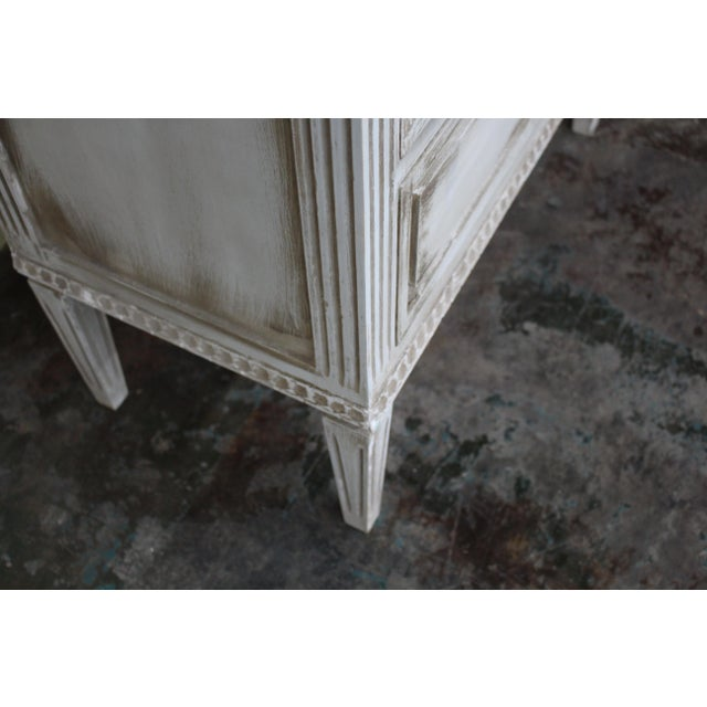 20th Century Vintage Swedish Gustavian Style Nightstands - a Pair For Sale - Image 9 of 11