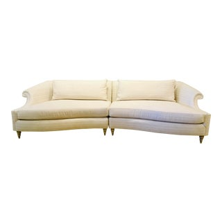 Caracole Modern Two Piece Roll Model Sofa For Sale