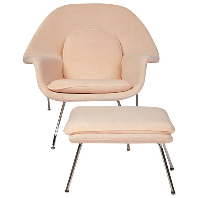 Eero Saarinen for Knoll Womb Chair & Ottoman For Sale