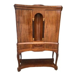 Antique French Mahogany Cupboard on Legs For Sale