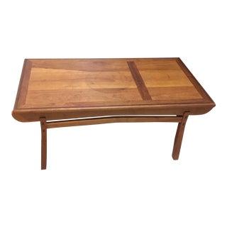 1990s Modern Custom Cherrywood Woodworker Coffee Table