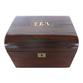 Inlaid Rosewood Tea Caddy, C.1830 For Sale