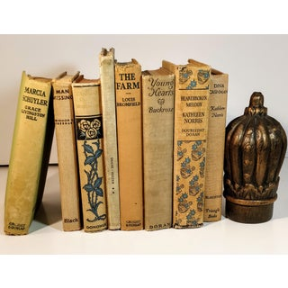 Vintage Tan Neutral Library Books - Set of 8 Preview