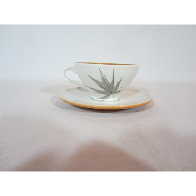 Mid-Century Iroquois China Cup and Saucers - Service for 10 For Sale - Image 4 of 7