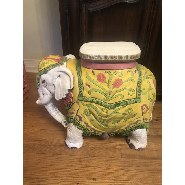 1960s Elephant Garden Stool For Sale - Image 12 of 12