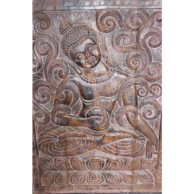 1990s 1990s Vintage Indian Sitting Buddha Wall Panel For Sale - Image 5 of 6
