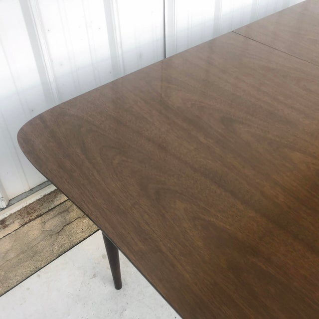 Brown Mid-Century Dining Table With Leaf For Sale - Image 8 of 13
