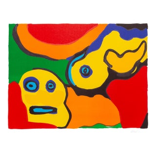 """Karel Appel, """" Yellow Boy and Sun"""" For Sale"""