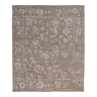 Transitional Area Rug With Oushak Pattern and Chinoiserie Style - 08'01 X 09'09 For Sale