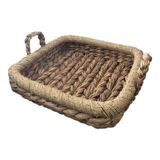 Made Goods Kenley Woven Seagrass Tray For Sale