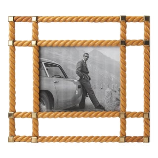 Noel Bc Italy Mid-Century Modern Large Light Wood Picture Photo Frame For Sale