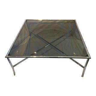 Milo Baughman Style Hollywood Regency Chrome Table