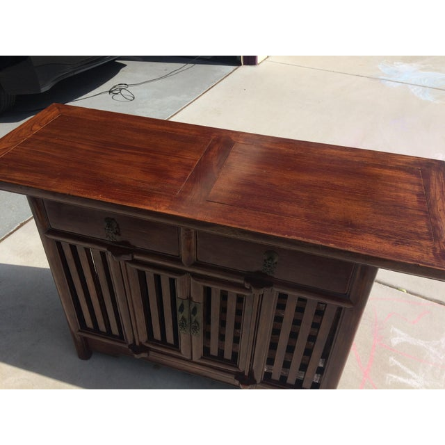 Asian Solid Wood Cabinet - Image 8 of 9