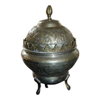 Vintage Arabic Urn & Lid