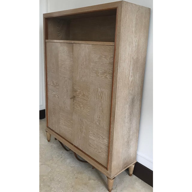 1940s Mid Century French Cerused Cabinet For Sale - Image 4 of 11