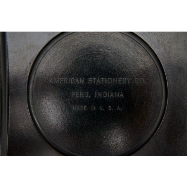 Black 1920s Dunhill American Art Deco Black Bakelite Storage Box with Pegasus Motif For Sale - Image 8 of 9