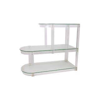Vintage Lucite & Glass Shelving For Sale