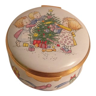 Crummles Enamel Harrods Christmas Box and a Ltd Edition of 500 For Sale