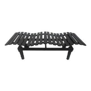 Stunning Designer Wavy Garden Patio / Terrace Bench For Sale