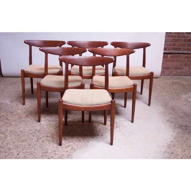 Set of Six Hans Wegner W2 Dining Chairs for CM Madsen in Oak For Sale - Image 13 of 13