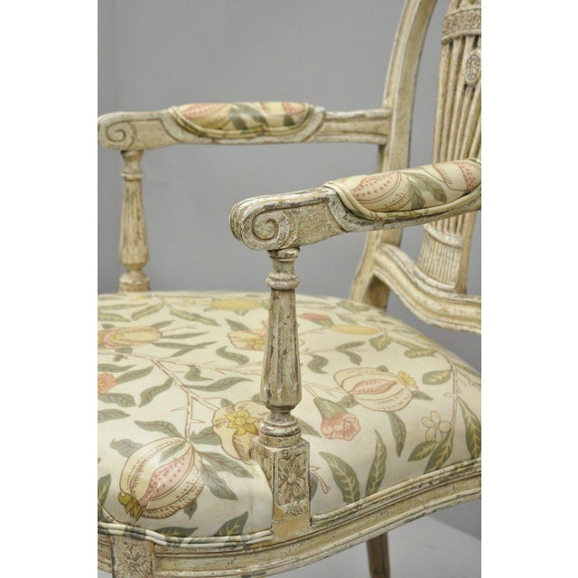 Tan 20th Century Louis XVI French Style Hot Air Balloon Back Dining Chairs - Set of 6 For Sale - Image 8 of 13