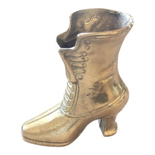 Vintage Brass Boot Model For Sale