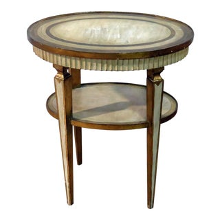 Italian Florentine 2 Tier Side Table For Sale