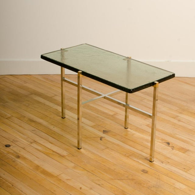Gold Italian Mid-Century Smoky Glass Top End Tables - a Pair For Sale - Image 8 of 13