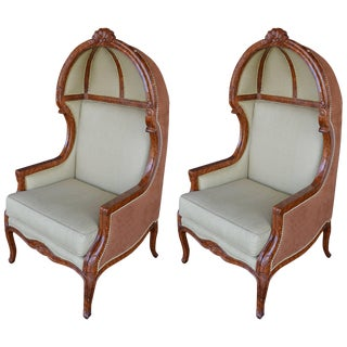 1980s Vintage Canape Chairs- A Pair For Sale
