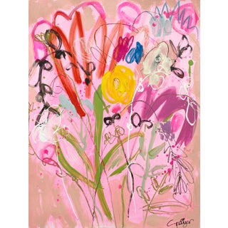 "Lesley Grainger So ""Wild Bouquet"" Original Painting For Sale"