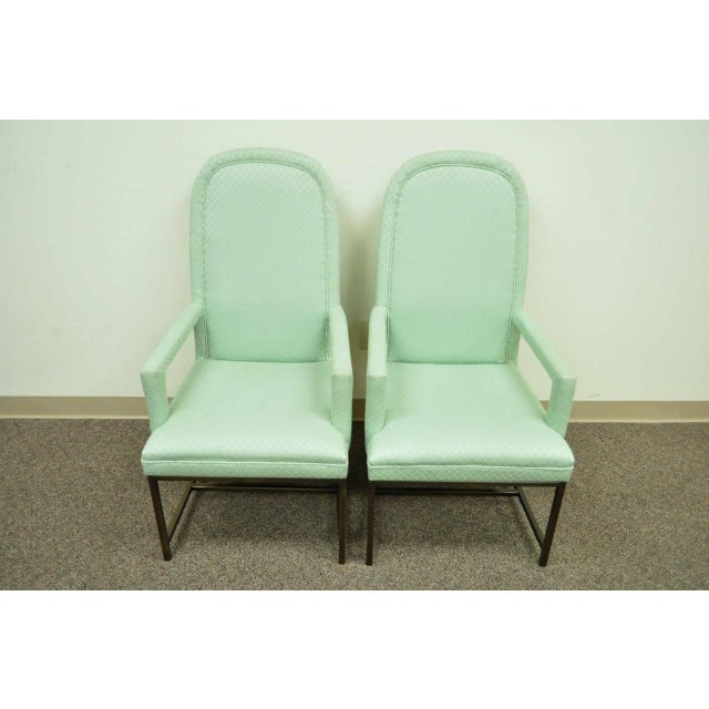1970s Modern Upholstered Arm Chairs - a Pair For Sale - Image 4 of 10