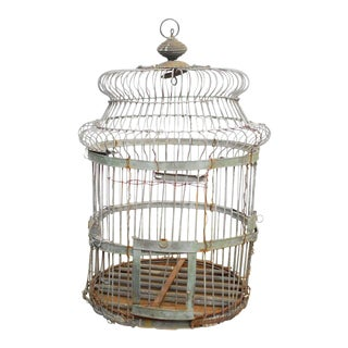 19th Century French Zinc Bird Cage For Sale